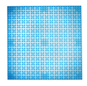 Premium 25cm x 25cm Clear Blue Stackable Base Plate - Compatible with All Major Brands