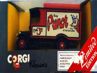 Vintage 1985 Corgi Classics Limited Edition Punch Magazine Thornycroft Van No. C933 Die-Cast Replica Vehicle Mint In Box - Shop Stock Room Find