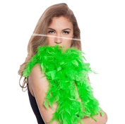 Feather Boa Fluo Green 180 cm