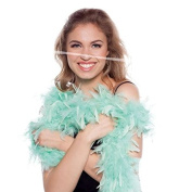Feather Boa Light Green 180 cm