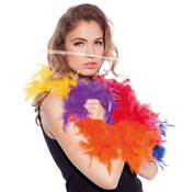 Feather Boa Colourful Rainbow 180 cm