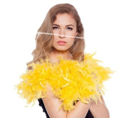 Feather Boa Yellow 180 cm