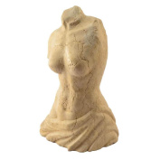 In Female Bust Marble Yellow Istrian Hand Sculpted