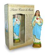 Statue of the Sacred Heart of Maria of Height 12 cm with Bookmark in Gift Box