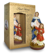 Statue of Saint Anna of Height 12 cm with Bookmark in Gift Box