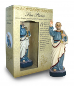 Statue of Saint Peter of Height 12 cm with Bookmark in Gift Box