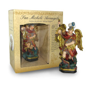Statue of Saint Michael The Archangel Of Height 12 cm with Bookmark in Gift Box