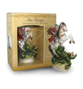 Statue of Saint George of Height 12 cm with Bookmark in Gift Box
