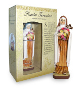Statue of Santa Teresina Height 12 cm with Bookmark in Gift Box
