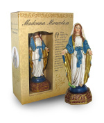 Statue of Miraculous Madonna of Height 12 cm with Bookmark in Gift Box