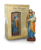 Statue of St. Joseph Of Height 12 cm with Bookmark in Gift Box
