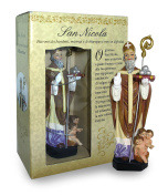 Statue of St. Nicholas of Height 12 cm with Bookmark in Gift Box