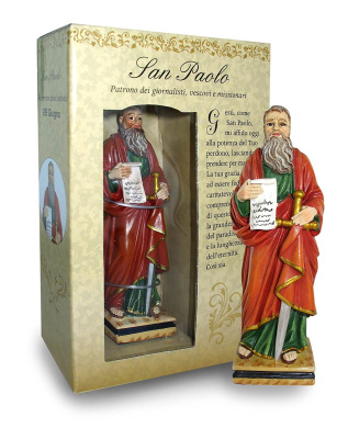 Statue of Saint Paul of Height 12 cm with Bookmark in Gift Box