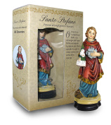 Statue of Santo Stefano of Height 12 cm with Bookmark in Gift Box