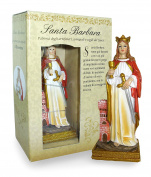 Santa Barbara Statue of Height 12 cm with Bookmark in Gift Box