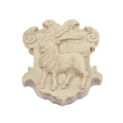 Coat of Arms in Relief in Marble Yellow Istrian Hand Sculpted
