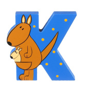 Orange Tree Toys : Wooden Letter K for Kangeroo