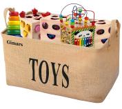 Gimars 50cm Jute Storage Basket Bin Chest Organiser - Perfect for Organising Toy Storage, Baby Toys, Kids Toys, Dog Toys, Baby Clothing, Children Books, Gift Baskets