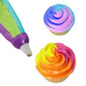 Pu Ran® Icing Piping Bag Nozzle Converter Tri-colour Cream Coupler Cake Decorating Tools