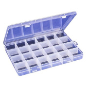 Starworld Plastic Storage Box, 24 Compartment Bin Container Holder for Earring Necklace Jewellery Accessories