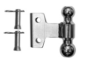 WD 5.1cm x 5.9cm Plated Steel Combo Ball 2 Pins and Clips 10K/14K GTWR