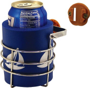 Charter Marine Swivel Mount Boat Cup Holder With Koozie