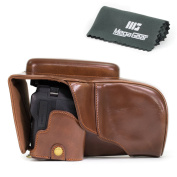 """MegaGear """"Ever Ready"""" Leather Camera Case, Bag, Bottom Opening Version – Protective Cover for Nikon Coolpix P900, P900S"""