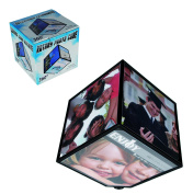 Men Women Man Woman Ladies Lady Gents Him Her - Low Cost Great value Rotating Picture Photograph Cube - Classic Look - Perfect for Secret Santa Stocking Fillers Xmas Christmas Birthday Valentines Anniversary Gift Present Idea - One Supplied