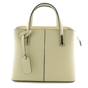 Made In Italy Genuine Leather Women Handbag Colour Beige Tuscan Leather - Woman Bag