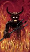 WOWindow Posters Devil's Hell Fire Halloween Window Decoration 90cm x 150cm Backlit Poster