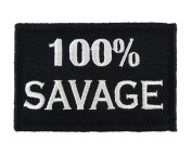 100% Savage Hook and loop Fully Embroidered Morale Tags Patch