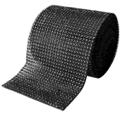 Black Rhinestone Diamond Bling Wrap Ribbon for Wedding Cake, Party, Holiday & Home Decoration, 10 Yards by Royal Imports