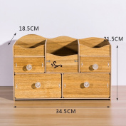 MEILING Desktop Cosmetic Storage Box Wooden Large Dresser Skin Care Products Shelving Jewellery Sort Out Storage Box