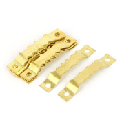 sourcingmap 45mm x 8mm Double Hole Sawtooth Picture Frame Hanging Hangers 10PCS w Screws