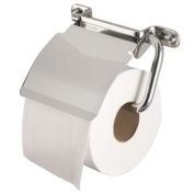 "Haceka Toilet Roll Holder ""Ixi"" with Lid Brillant, Silver"