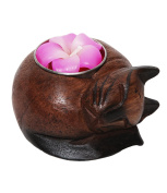 The Hippy Clothing Co. Curled Cat Tea Light Holder