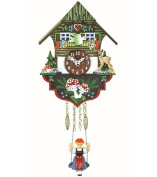 Kuckulino Black Forest Clock Black Forest House with quartz movement and cuckoo chime, incl. battery TU 2004 SQ