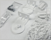 Easy Fit 25mm Roller Blind Fitting & Repair Kit - Free Child Safety Clip Included by BARGAIN HOMEWARE