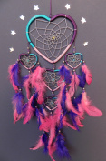 DREAM CATCHER PINK PURPLE DREAMCATCHER FAIR TRADE HAND CRAFTED BEAUTIFUL QUALITY