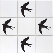 Pack of 15 Swallow Tile Stickers - Bird Sticker Pack