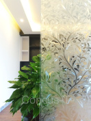 "Concus-T Static Cling No Adhesive Vinyl Premium tulip Decorative Glass Window Film 45cm(17.72"")x200cm"