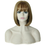 Alonea Soft Natural Medium Straight Bob Hair Full Lace Wigs Lace Front Wig