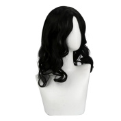Alonea Fashion Wig Heat Resistant Long Curly Hair Cosplay Costume Black Full Wigs