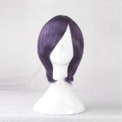 Ensemble Stars Sengoku Shinobu Purple Black 35cm Cosplay Wig + Free Wig Cap