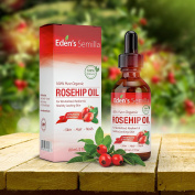 100% Pure Rosehip Oil - 60ml - Certified ORGANIC - Cold pressed & unrefined - NON Greasy HIGH absorbency - Use daily - Anti ageing, nourishes, hydrates and visibly reduces fine lines, scars, stretch marks and skin pigmentations - Suitable for all skin ..