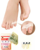 C.X.Z® Small Tail Toe Straightener Stretchers Separators Orthotics Spreading Silicone Gel Bunion Shield 2 Holes - 1 Pair