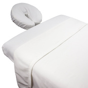 Tranquilly Microfiber Massage Sheet Sets By Body Linen - Lightweight, Long-Lasting Microfiber Massage Table Sheet Set - Stain-Resistant, Soft and No Pilling {White}