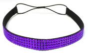 WigsPedia Rhinestone Crystal Stretch Headband 4-Row Head Piece Elastic Hair Band for Women