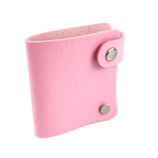 The Elixir Beauty Nail Stamping plate holder Synthetic Leather Stamper Organiser, Pink