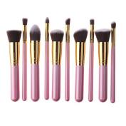 BeautyKate 10 Pcs Premium Synthetic Kabuki Makeup Brushes Sets Foundation Eyeshadow Blush Concealer Contour Powder Cosmetic Brush Kit